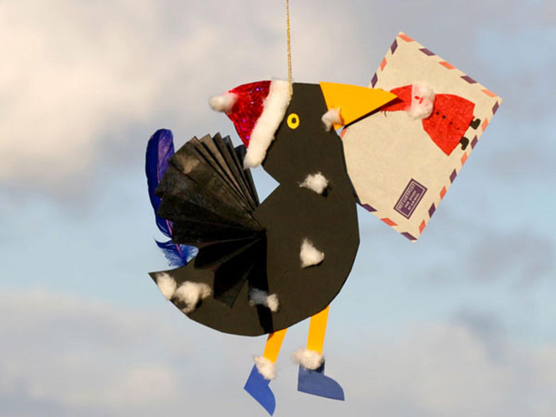 bricolage corbeau messager de Noël