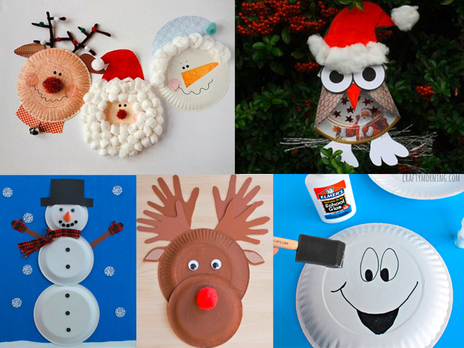 Bricolages de Noël avec des assiettes en carton