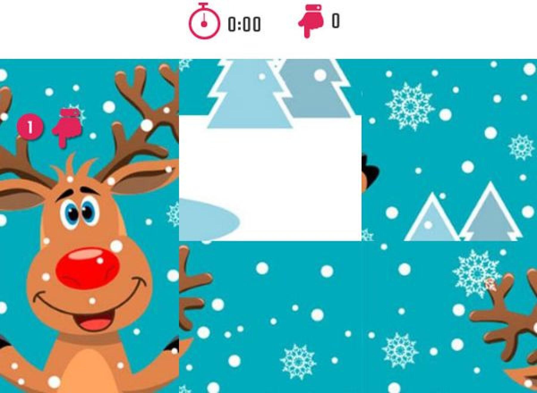5 puzzles de rennes de Noël