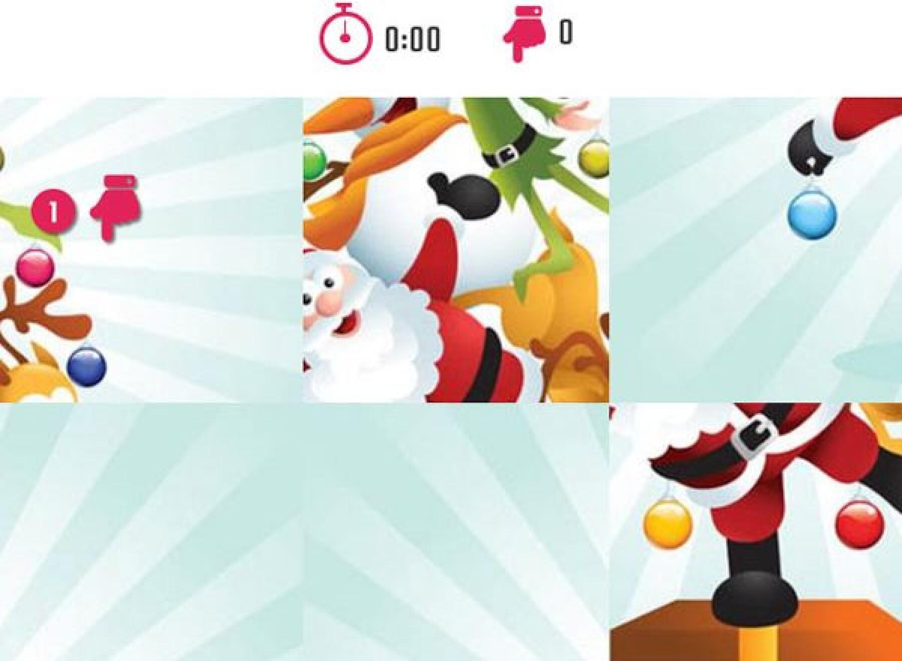 5 puzzles de sapins de Noël