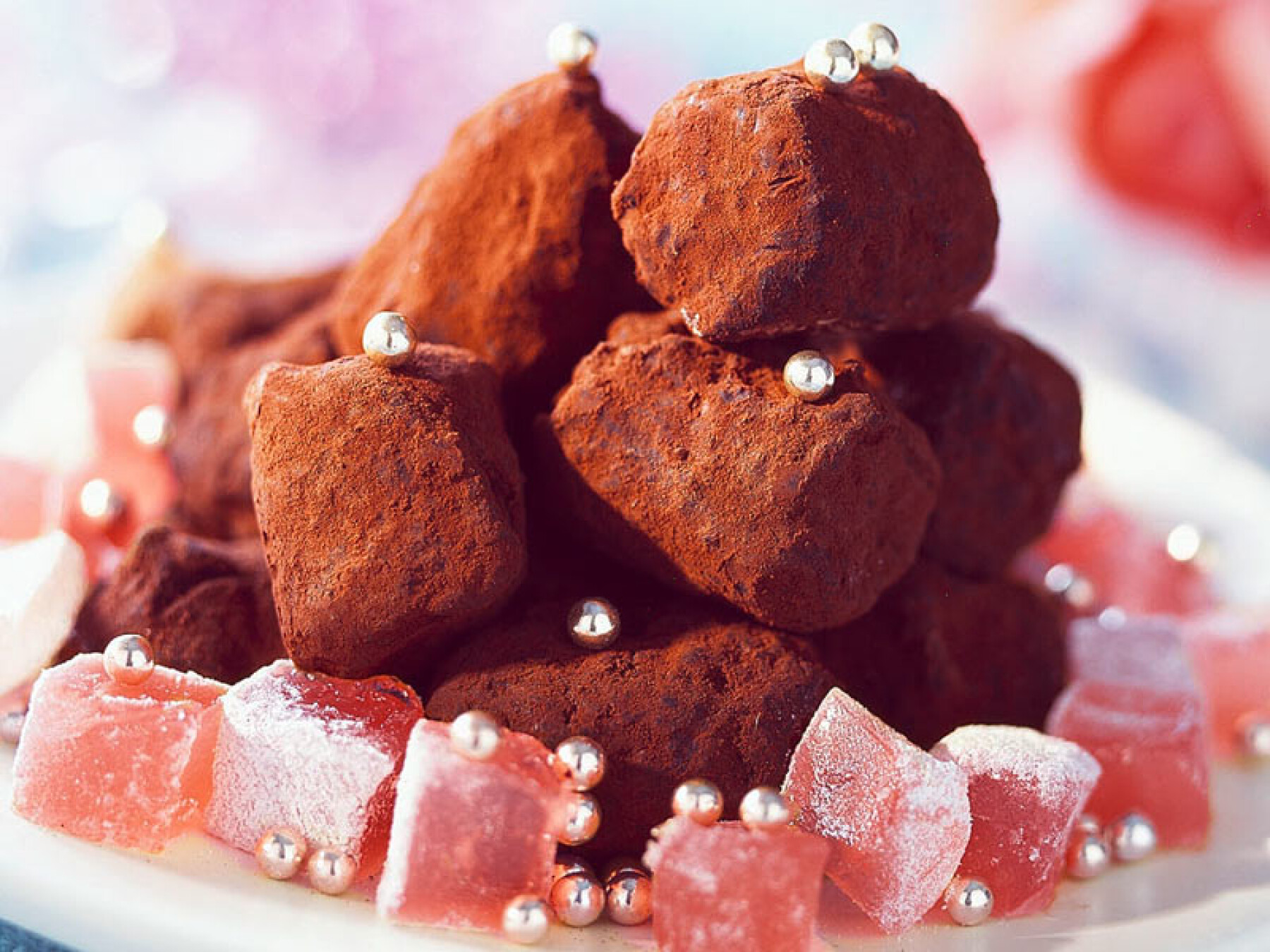 Truffes au chocolat et aux loukoums