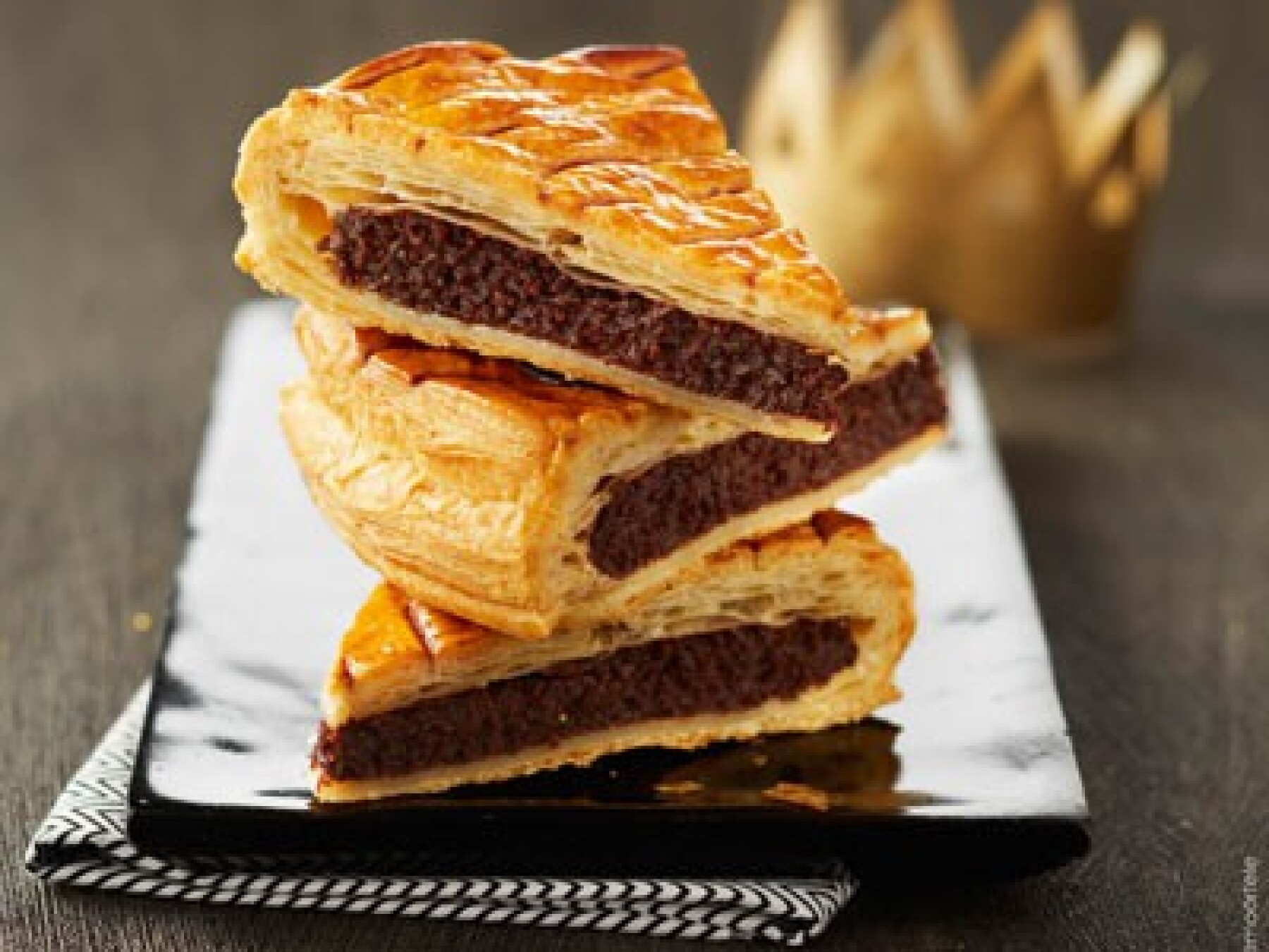 Galette frangipane-chocolat