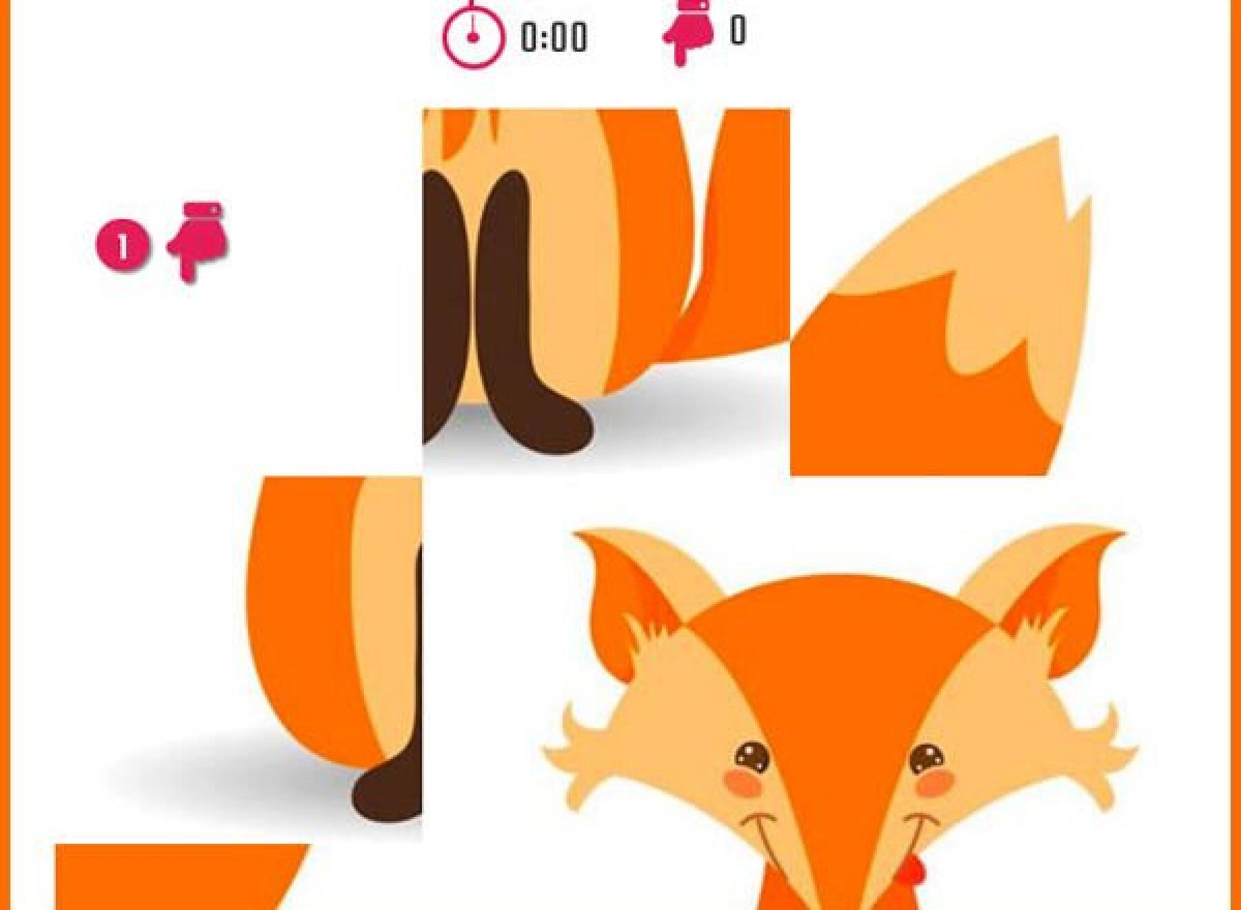 5 puzzles de renards