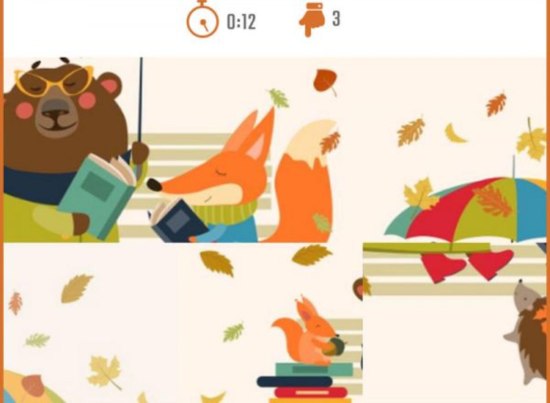 5 puzzles d'automne