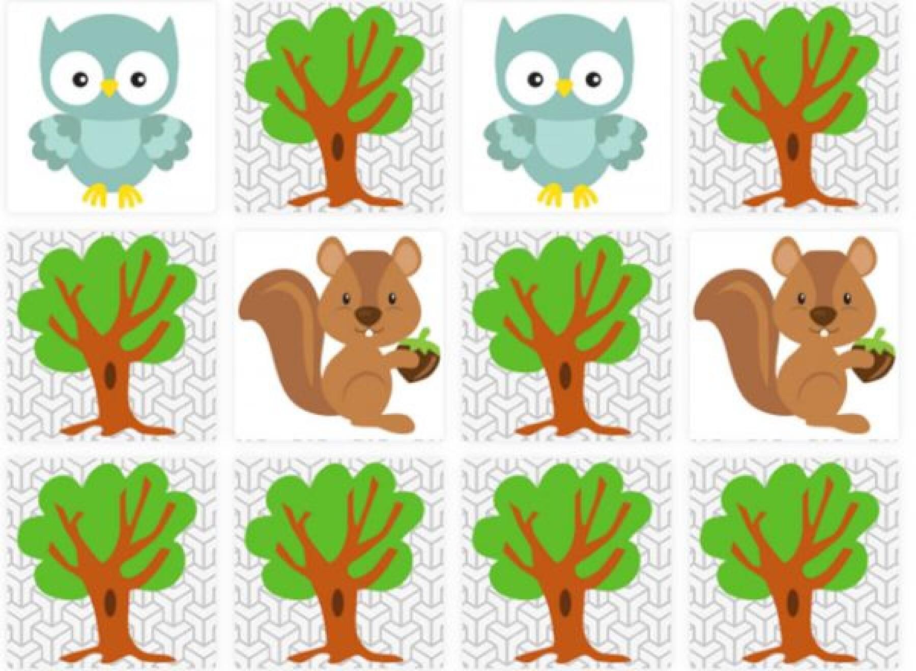 Memory des animaux de la forêt