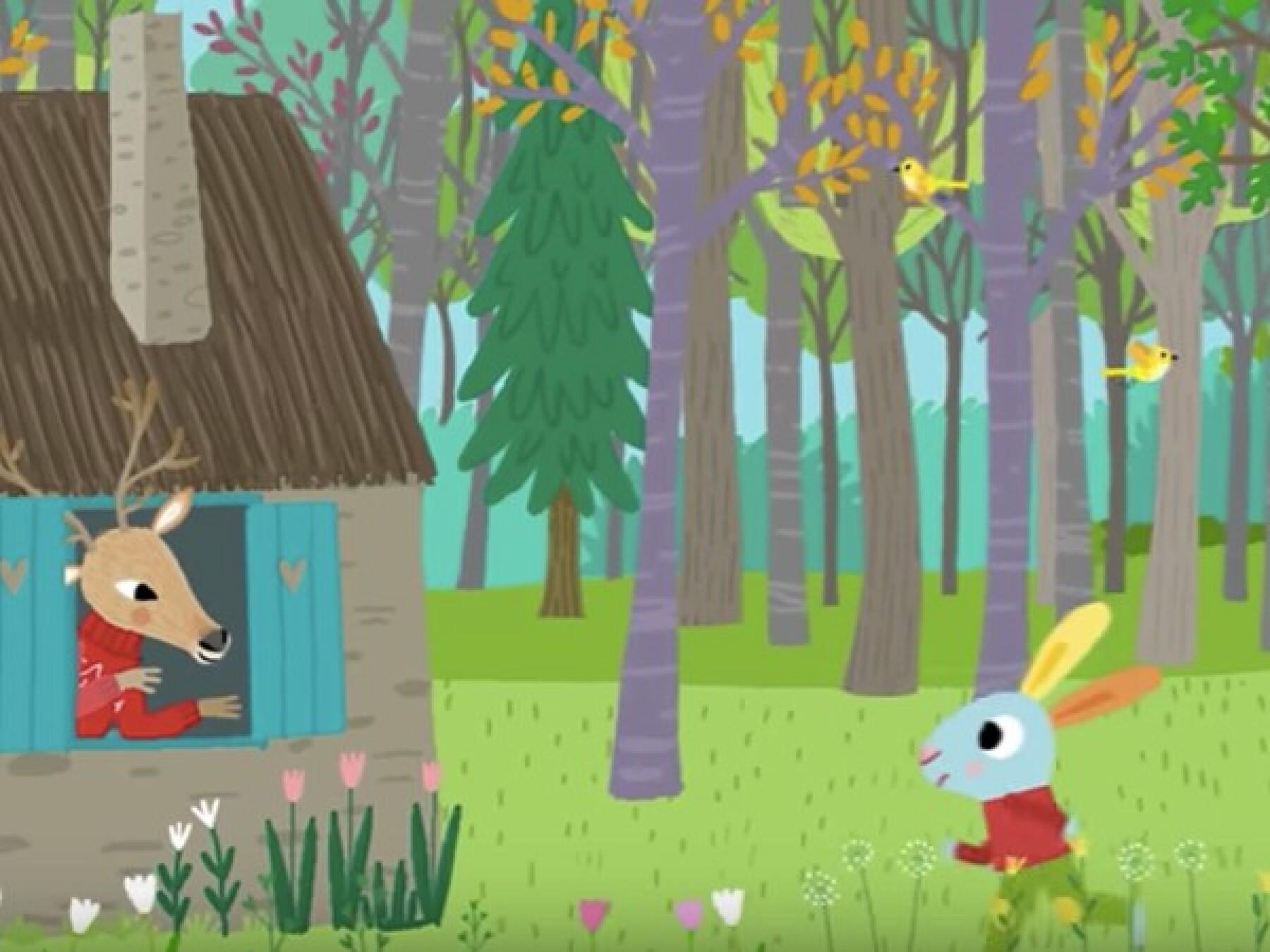 Dans la forêt un grand cerf