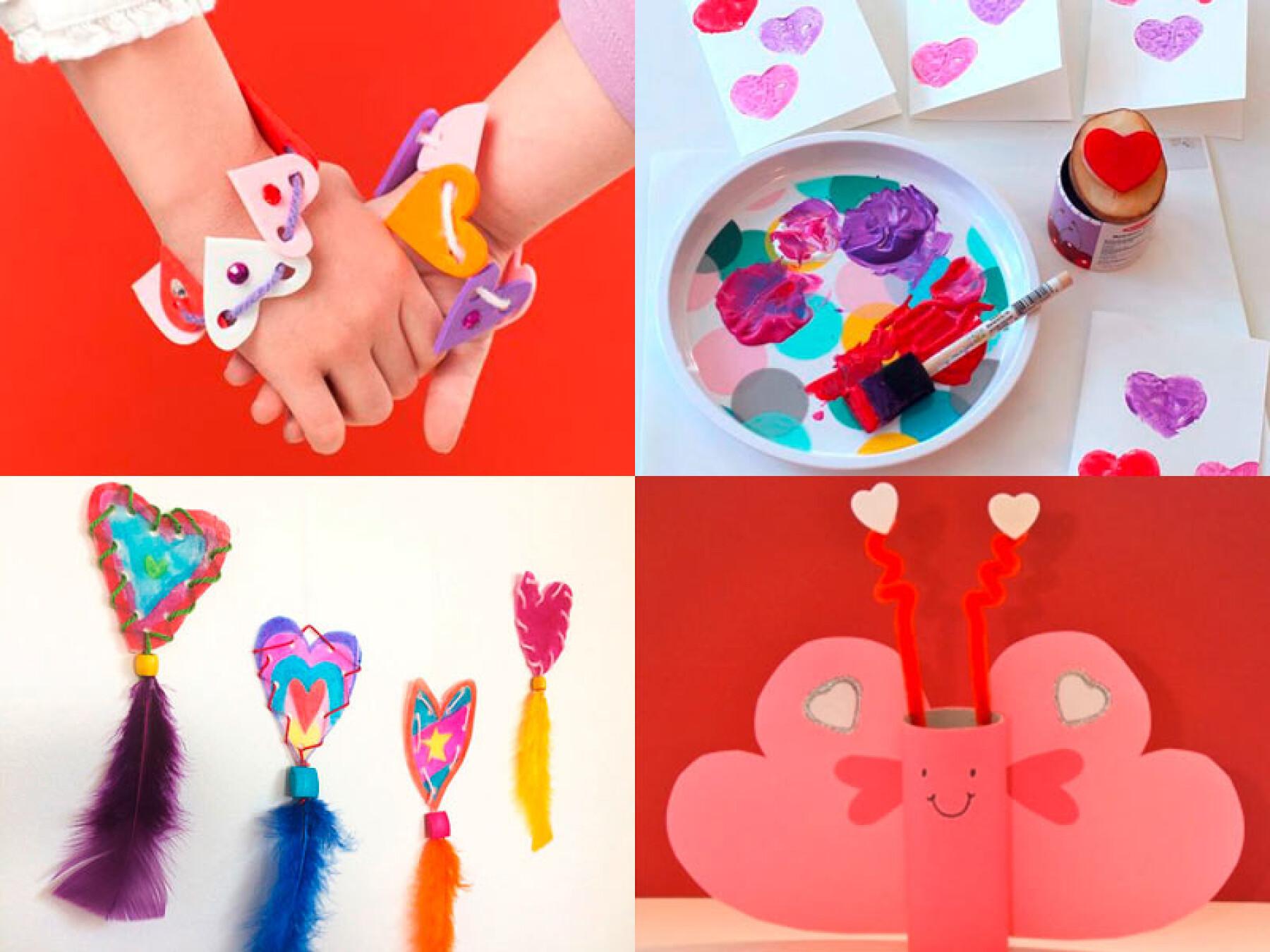 Bricolages de Saint-Valentin pour les enfants