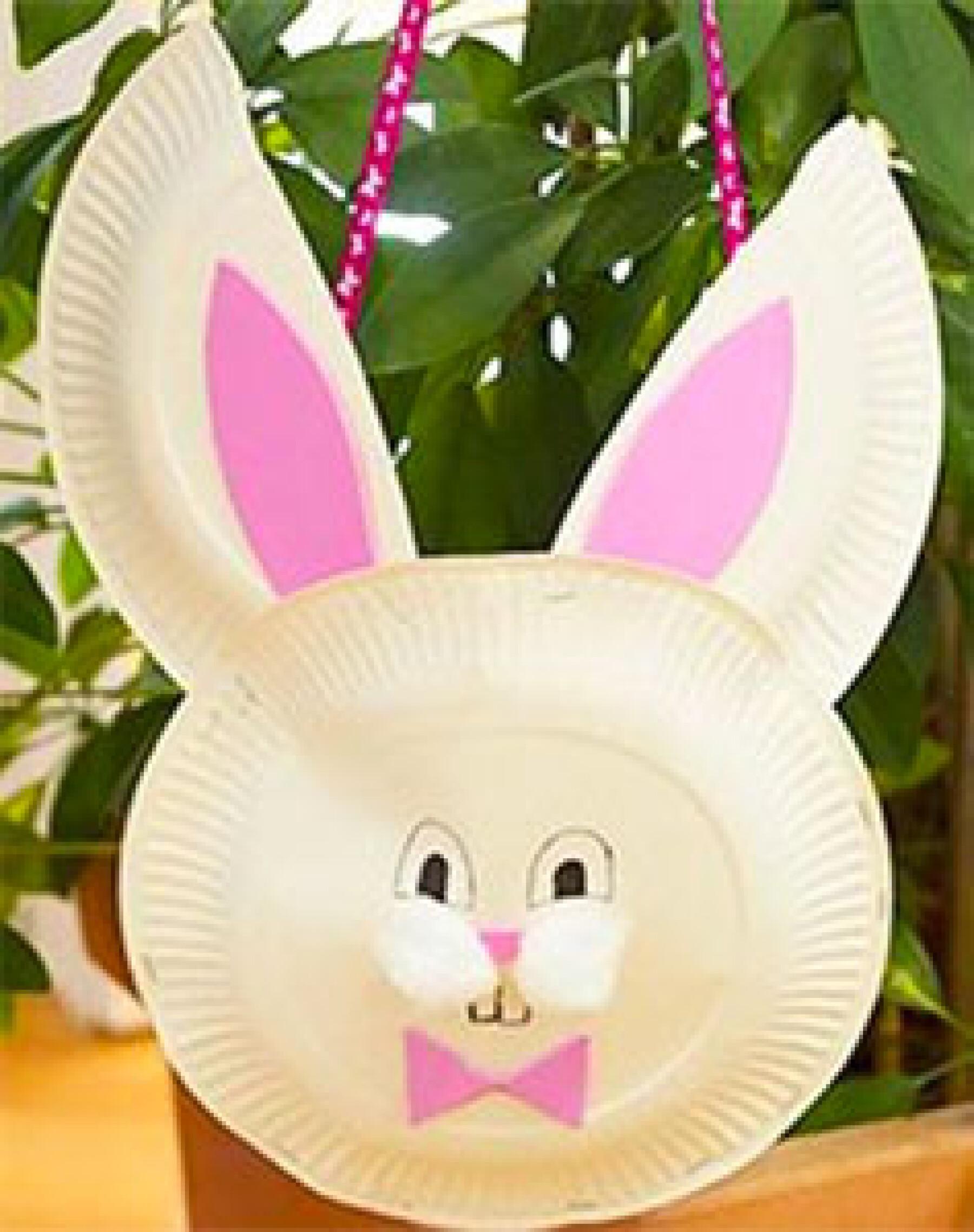 bricolage panier de Pâques lapin