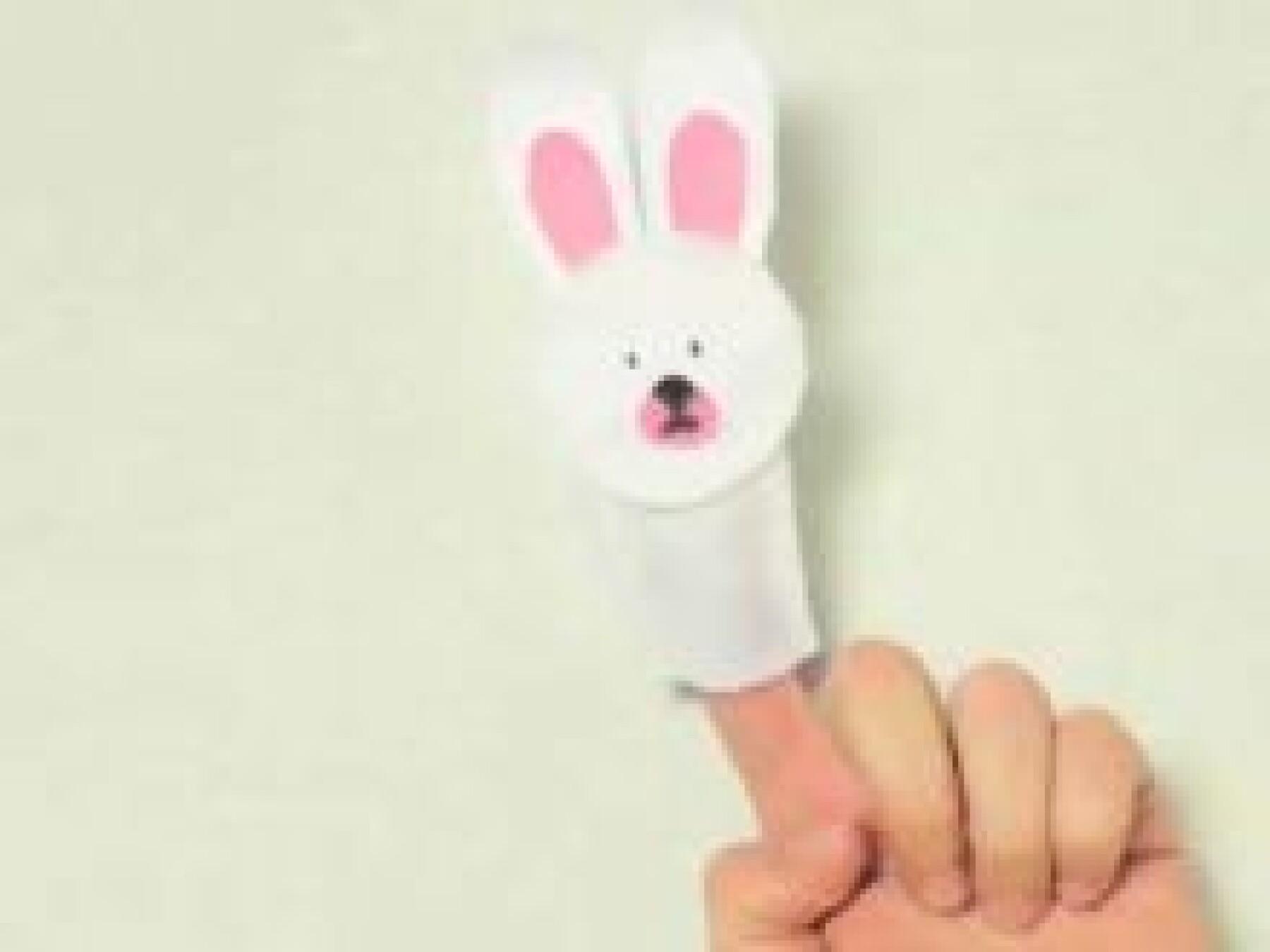 bricolage marionnette lapin