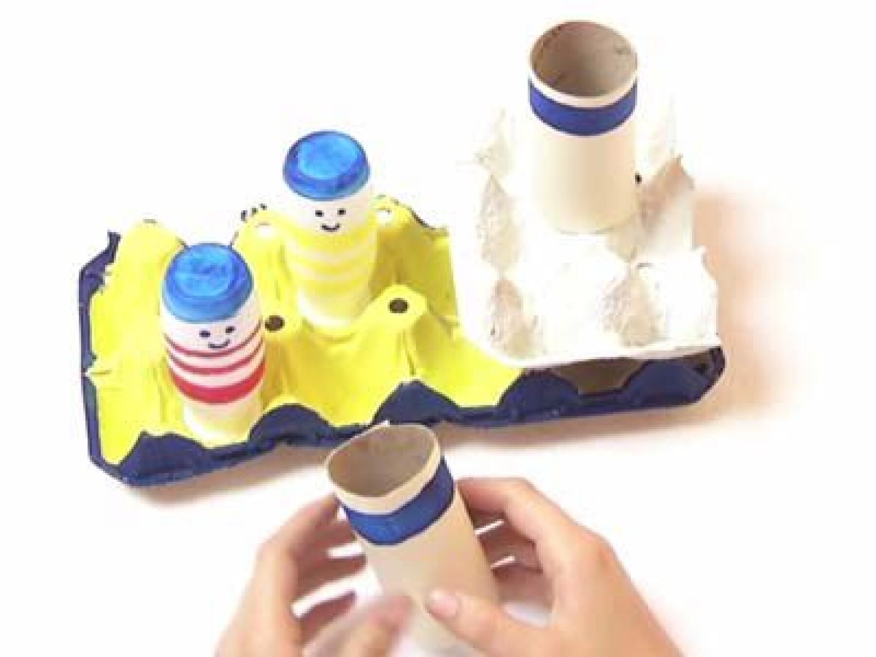 vidéo bricolage bateau boîte à œufs