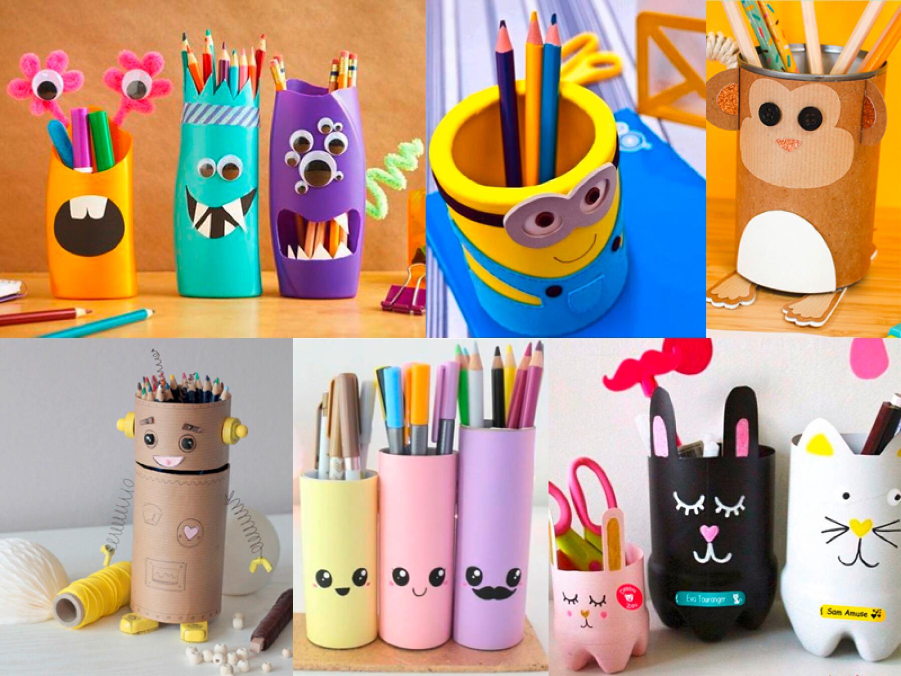 bricolages pots à crayons