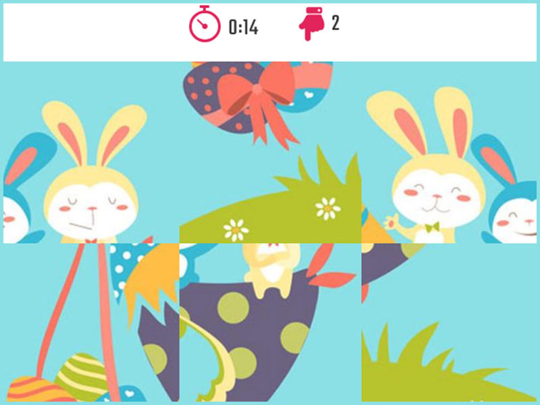 5 puzzles de lapins de Pâques