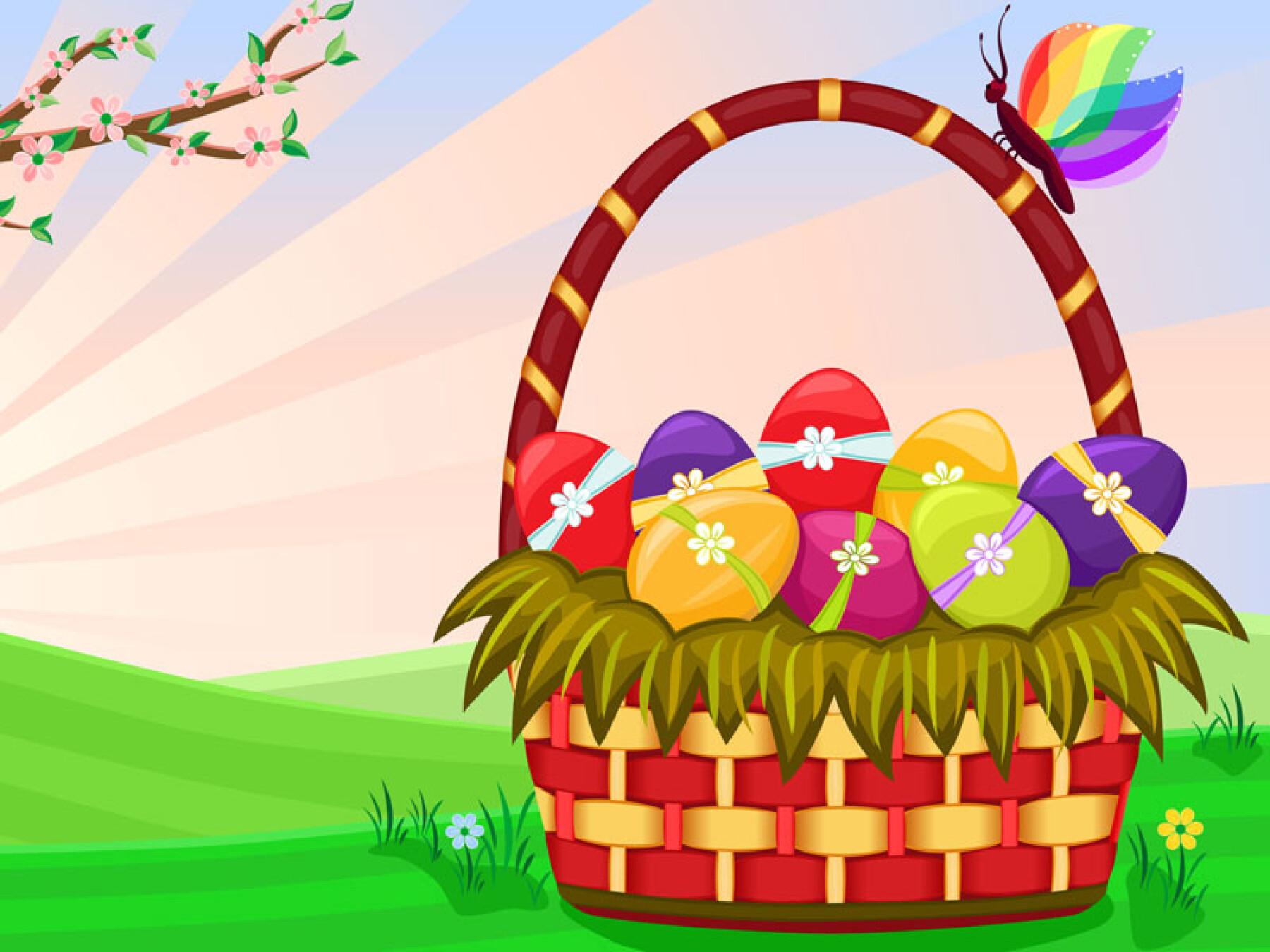 Jeu des différences du panier de Pâques