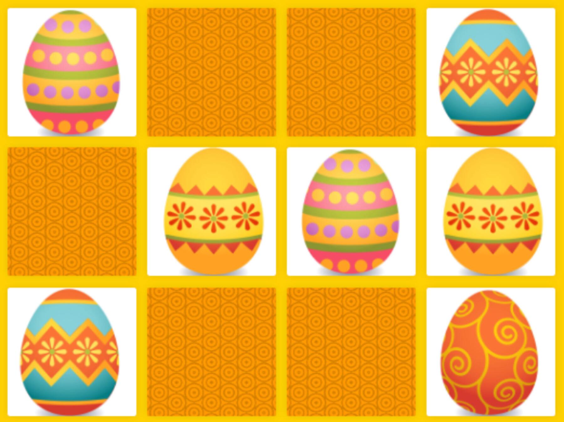memory des œufs de Pâques