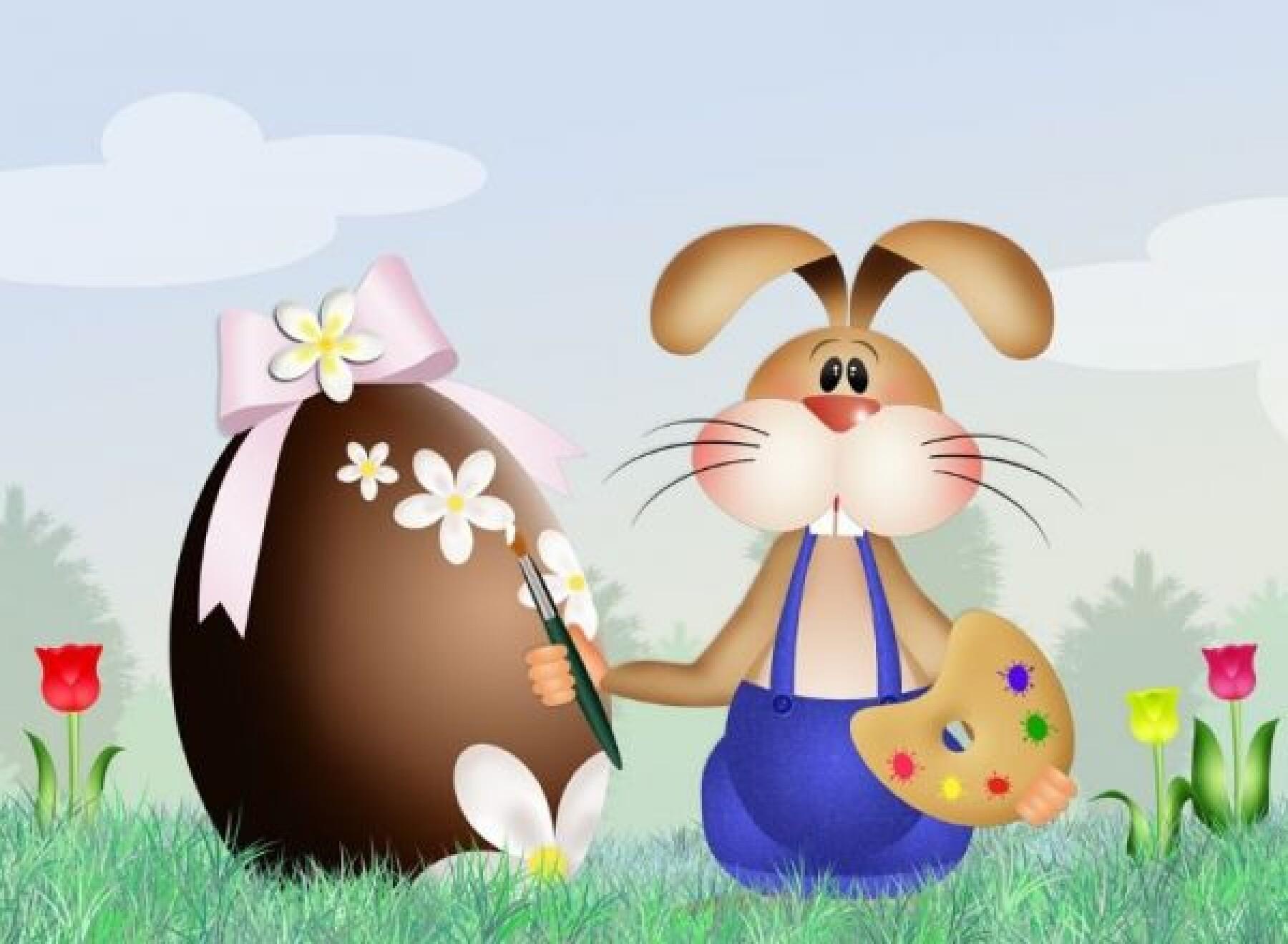 jeu différence lapin peintre Pâques