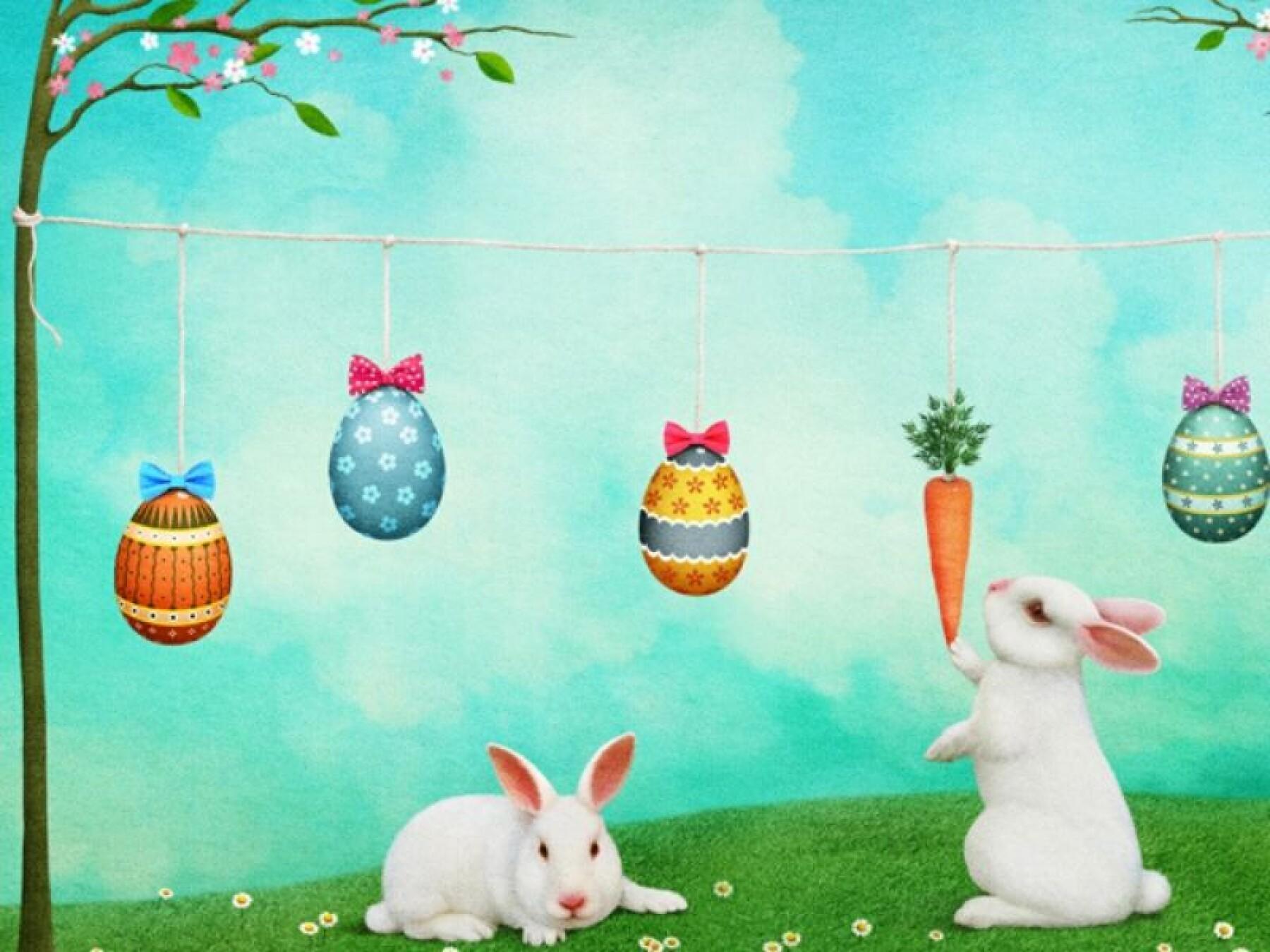 Jeu des différences du jardin de Pâques