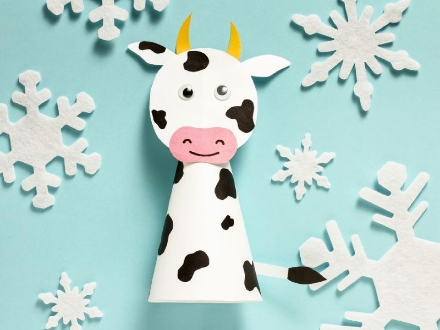 bricolage vache en papier