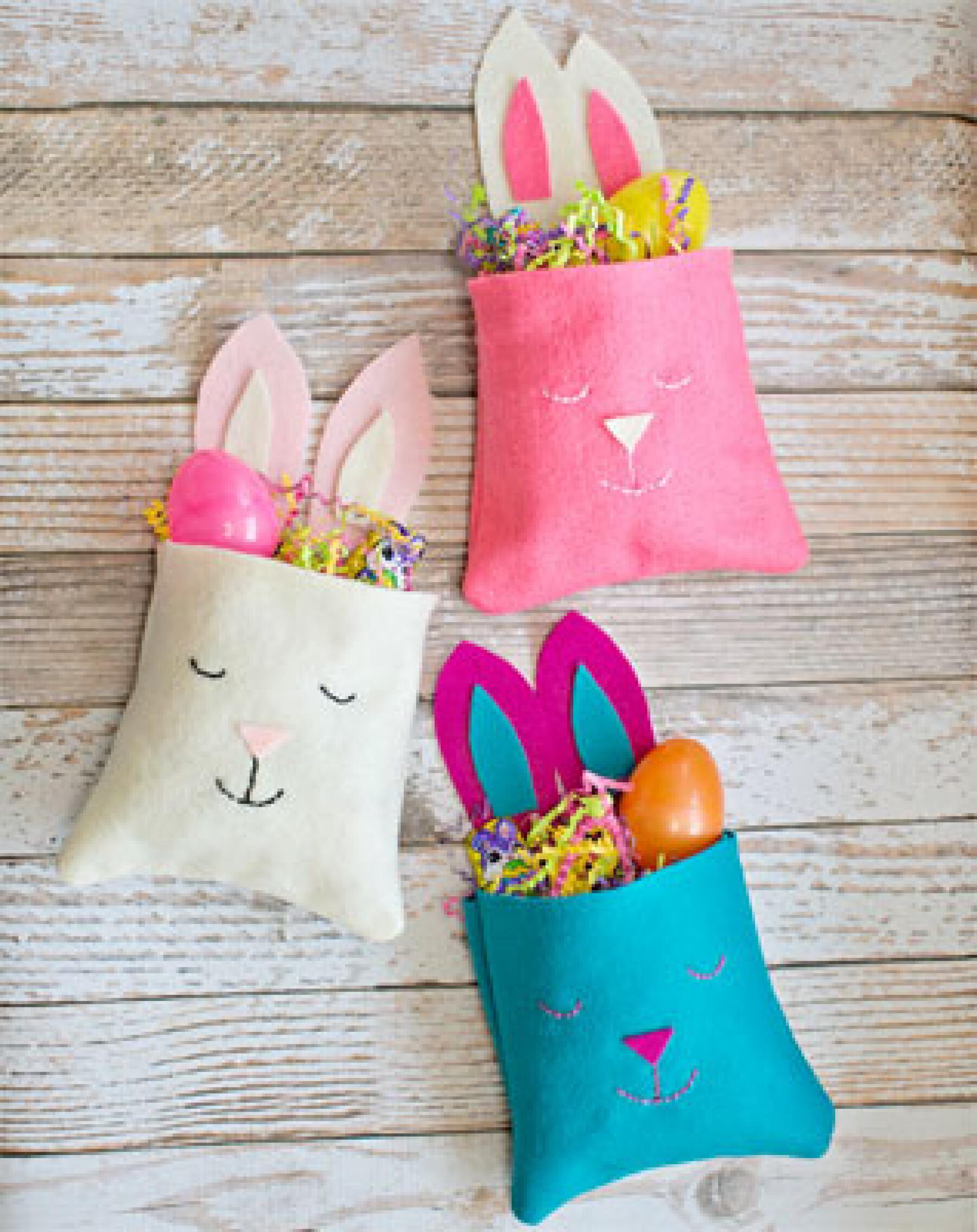 bricolage paniers de Pâques en feutrine
