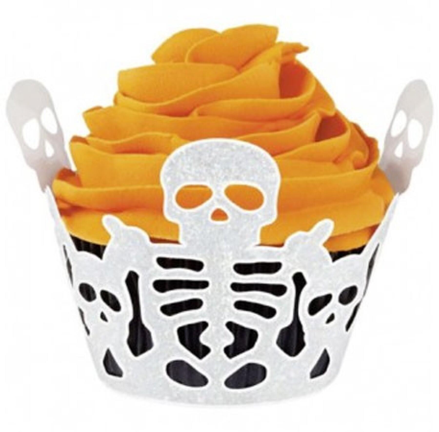 Caissettes pour cup cakes squelettes Sibon Sibon